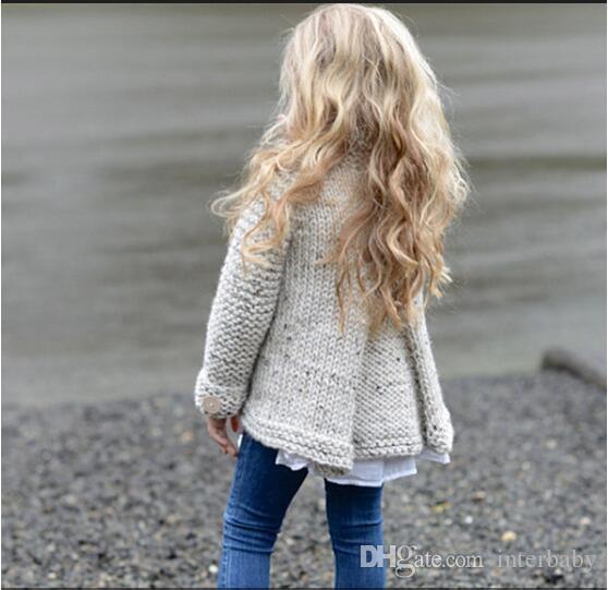 Bébé Vêtements INS Chandails Filles Princesse Partie Tricots Enfants Tricoté Pull Hiver À Manches Longues Jumper Manteau De Mode Survêtement Vestes B3505