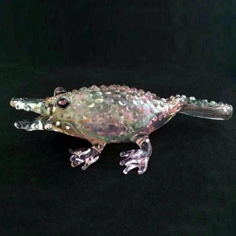 """""""Crazy Crocodile"""" Glass Pipes Cool Glass Smoking Pipe Pipes Smoking Pipes Hand Pipe for Smoking Tobacco Pipe 6.2'' inches Portable Pipes"""
