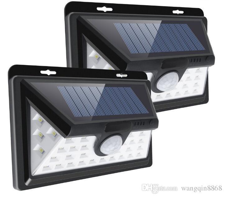 Mais recente externas 34/66 LEDs Dividir Solar Lâmpada PIR Motion Sensor 3 modos impermeável separada Garden Street Night Lâmpada de parede Luz