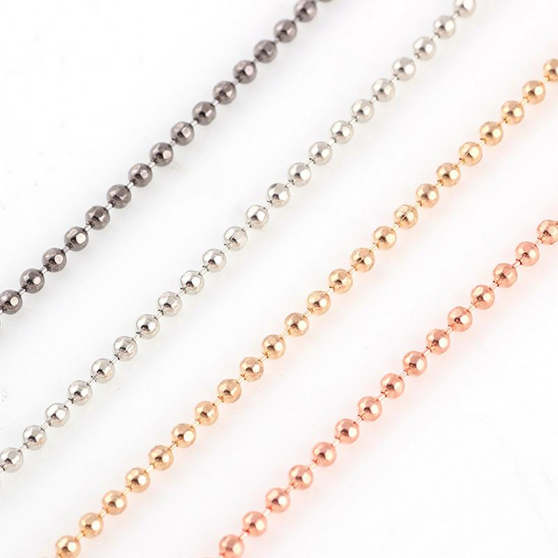 necklace rose gold ball replacement chain