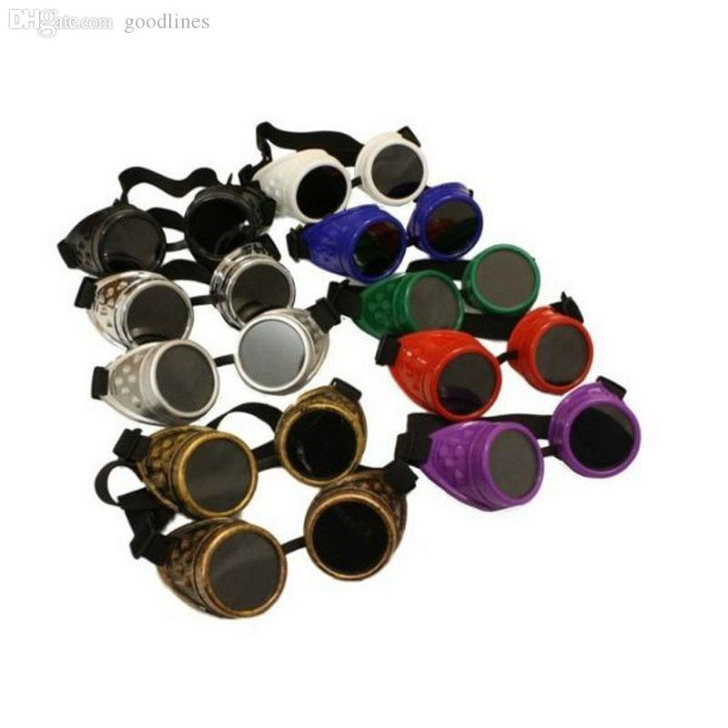 Wholesale-1pc Vintage Victorian Steampunk Goggles Glasses Punk Gothic Cosplay Costume Unisex