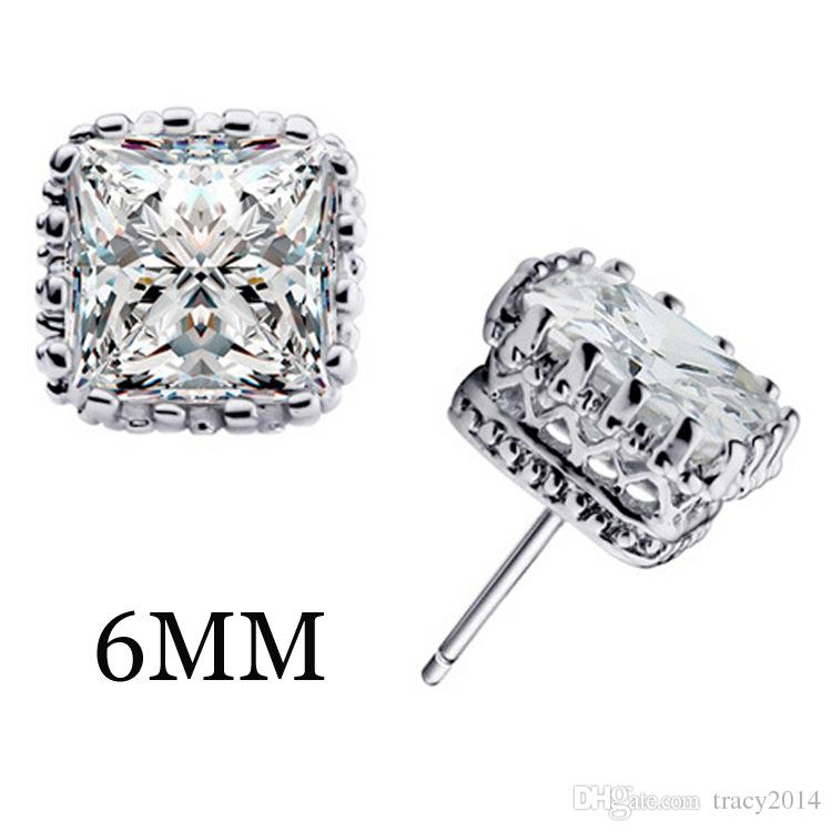 Группа новый свадебный Стад серьги 2016 Новый стерлингового серебра 925 CZ имитация алмазов участия красивые ювелирные изделия Кристалл серьги золотые серьги
