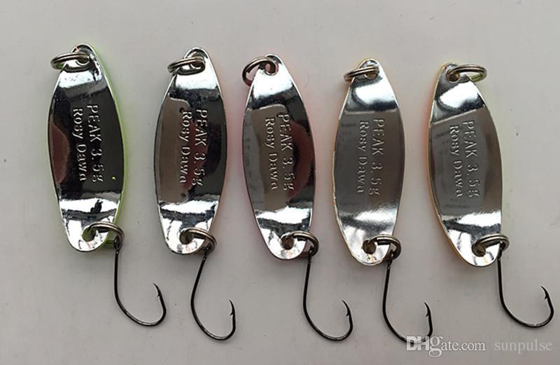 3.5g Fishing Lure Ice Bait Spoon Bait Metal False Bait Fishing Tackle Single Hook Salt or Fresh Water Fish 30 kinds of color