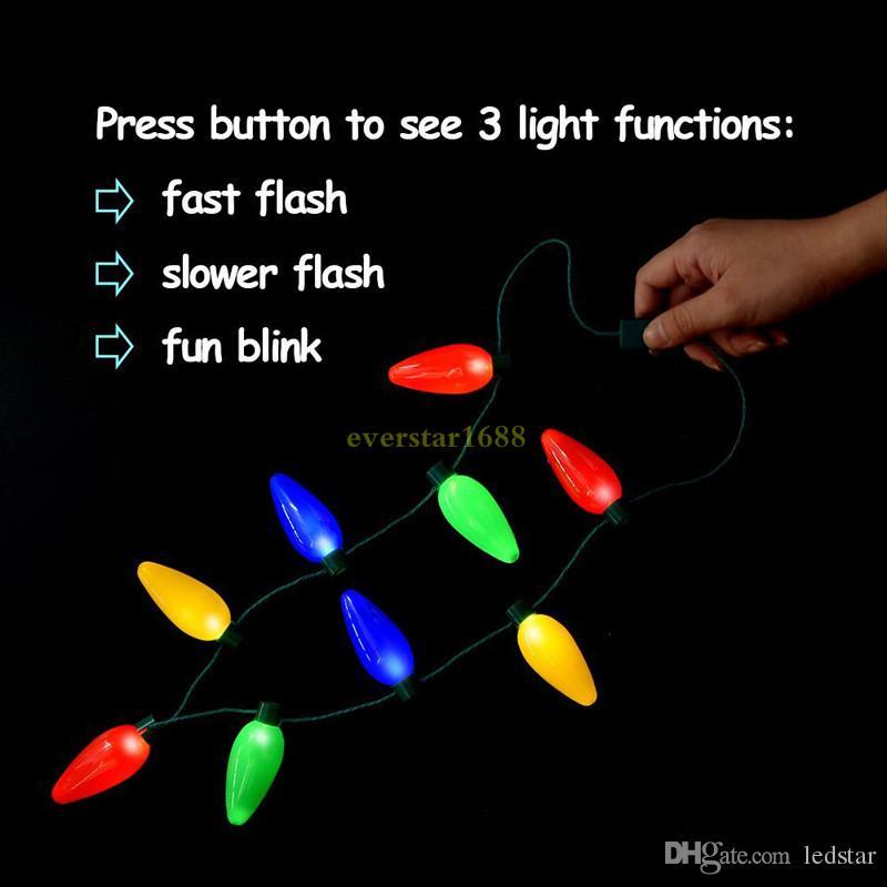Lampade a LED Candela natalizia Collana Bomboniere Bomboniere Decorazioni natalizie Collane regalo Lampade a LED