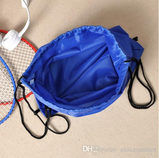 Gros étanche cordon sacs épaules sac à dos équitation stockage de chaussures de sport