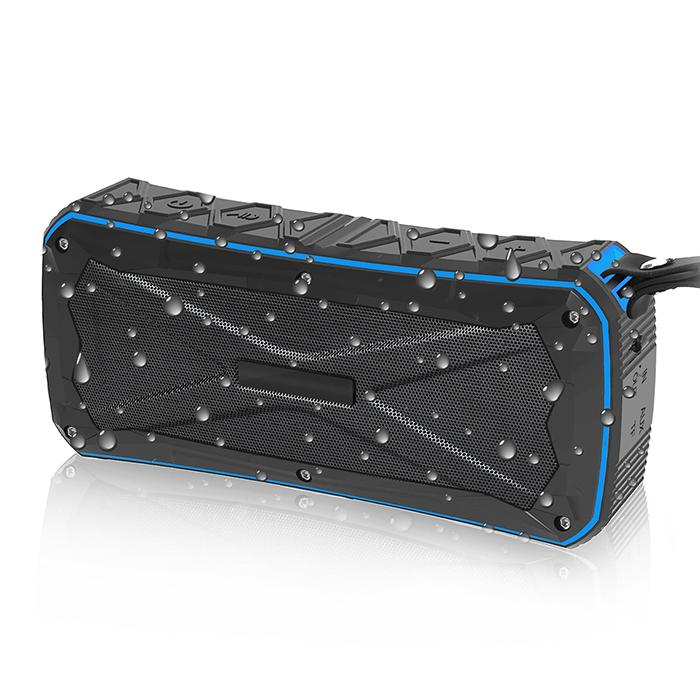 New Waterproof Bluetooth Speaker Portable Outdoor Subwoofer with Two Speakers Wireless Music Player Shockproof Dustproof Power Bank Function