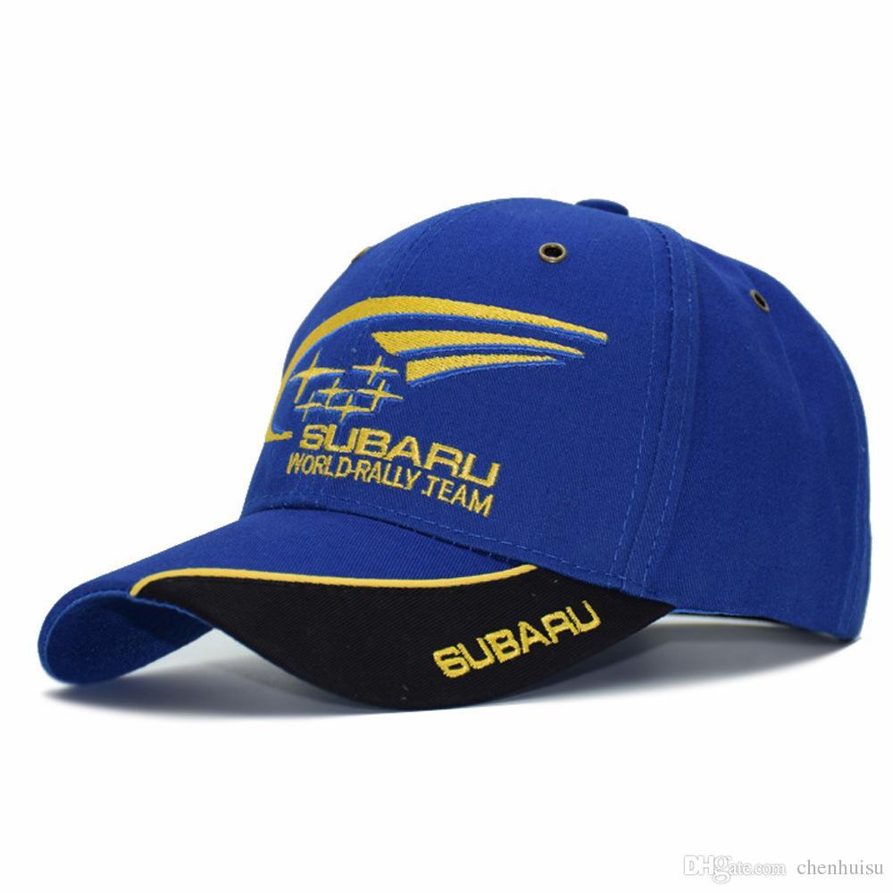 2019 F1 Moto GP Subaru Team Embroidery Baseball Cap Motorcycle Racing Hats  Snapback Motocross Riding Hats Men Gorros Couple Golf Caps From Chenhuisu f19487cdfee