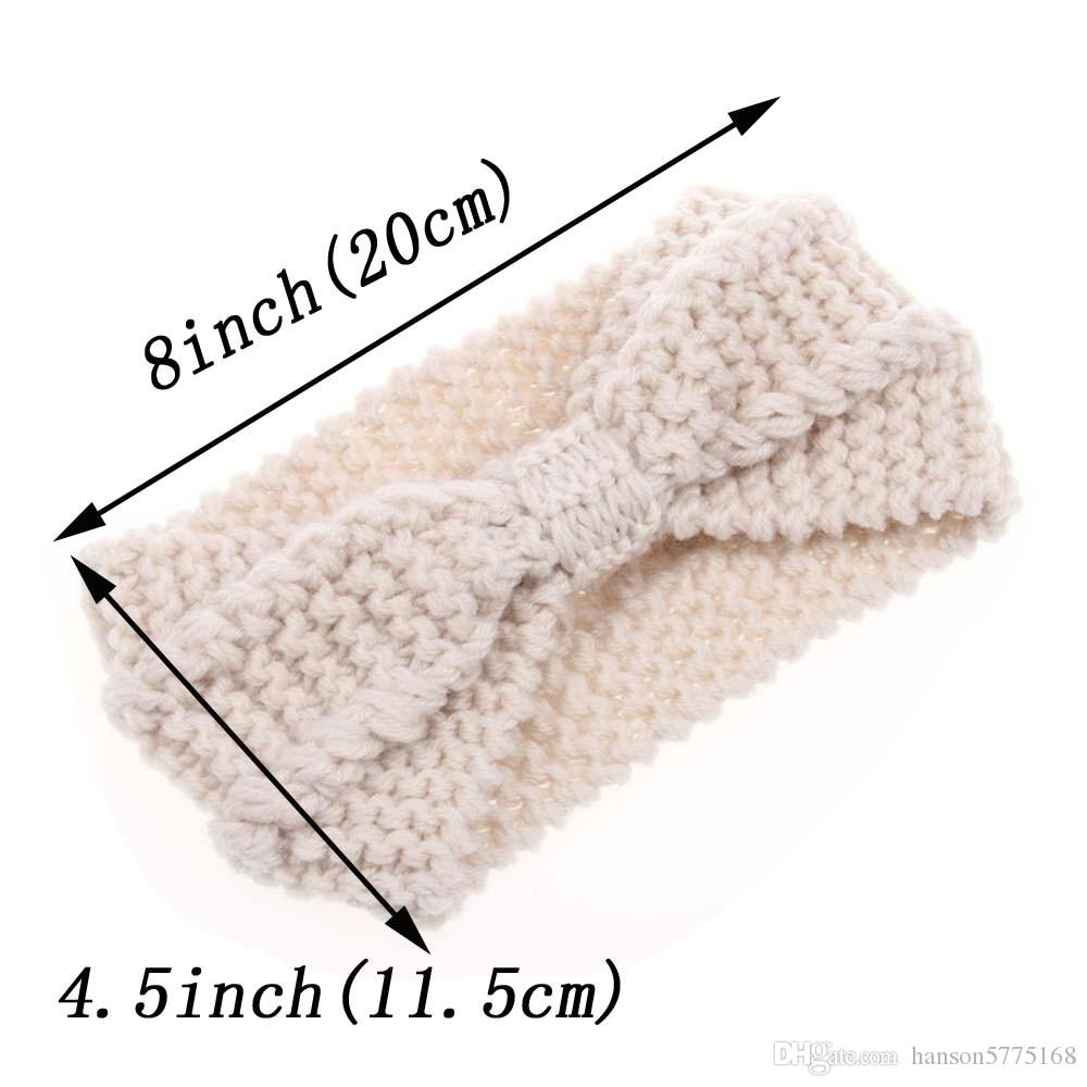 Lady Cozy Thick Knit Headband Turban Ear Warmer For Women Winter Headband Bow Stretch Hairband Headwrap