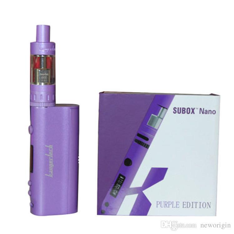 Аутентичные Kanger Subox Nano стартовый комплект с 3 мл Subank Nano танк и 50 Вт Kangertech Kbox Mod электронная сигарета комплект против Subox мини-комплекты