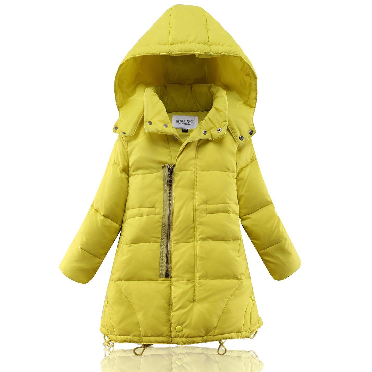 Girls Long Down Coat Winter Jacket Big Kids 100% Down Extra Thick ...