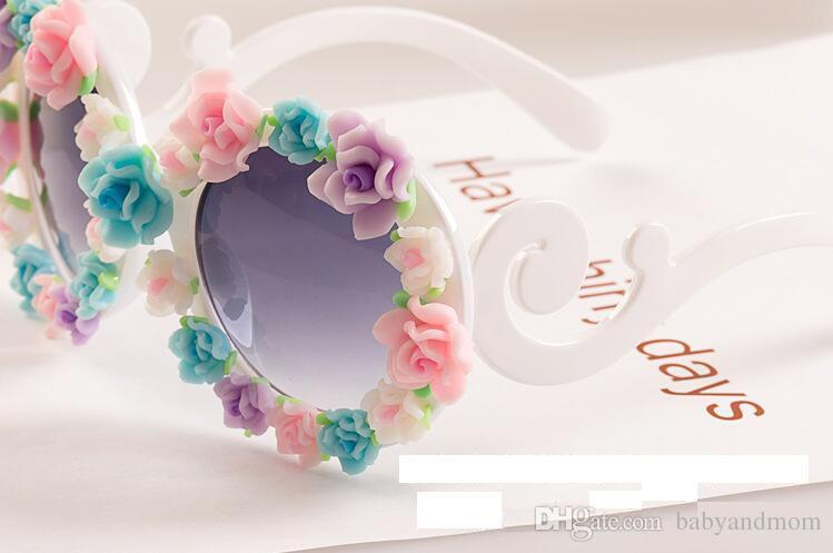Adult Big Kids Flower Sunglasses Fashion Design Baroque Style Children Beach Sunblock Accessories Blinkers Party Focus