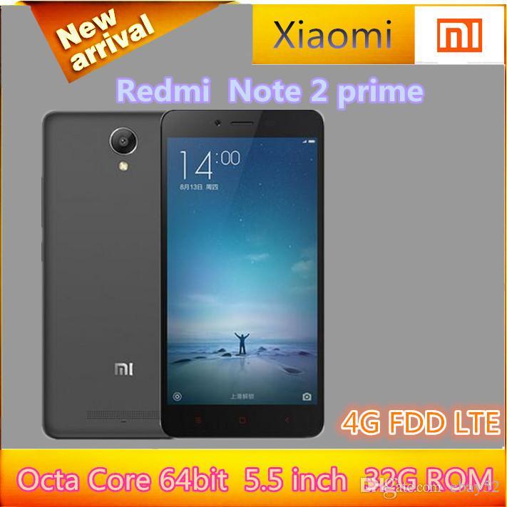 Gunstiges Smartphone Handy Original Xiaomi Redmi Hinweis 2 Prime Phone 4g Fdd Lte Mtk X10 22ghz Octa Core 64bit 55 2gb Ram 32gb Rom 3060mah Google Play