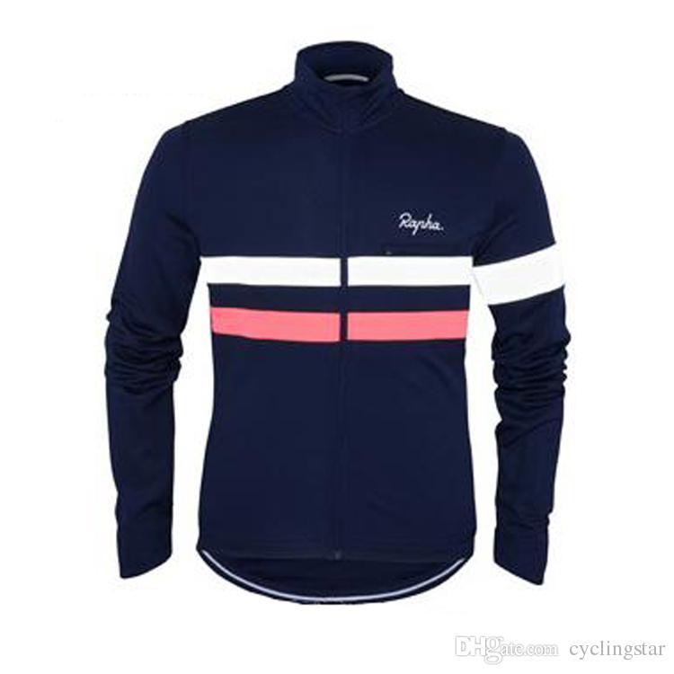 Sıcak Yeni sonbahar bisiklet giyim Uzun Kollu Rapha Bisiklet Formaları yarış bisiklet Gömlek Rahat Nefes Bisiklet Aşınma L0701
