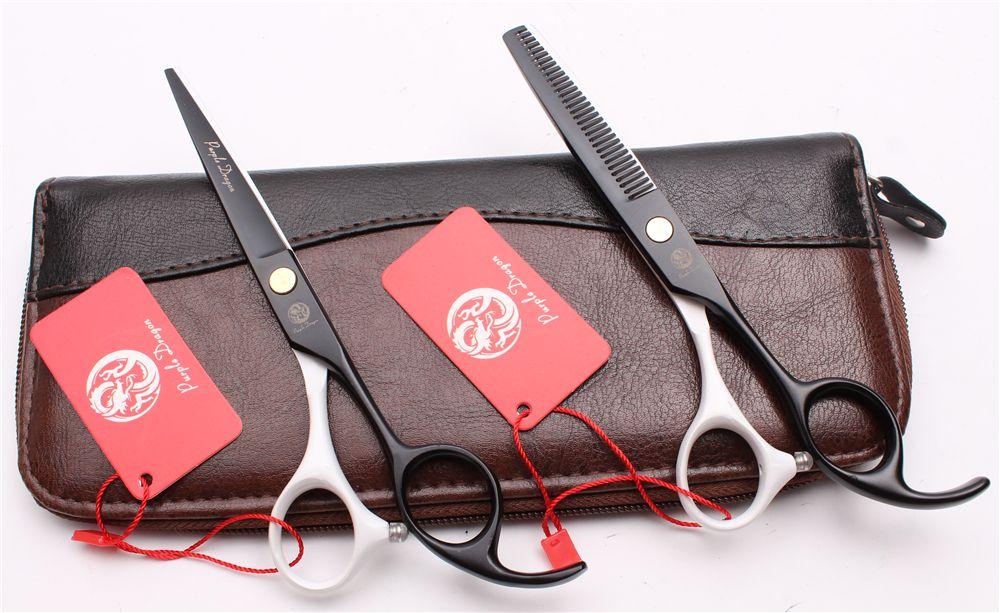"Z1023 5.5"" 16cm 440C Purple Dragon Professional Human Hair Scissors Barbers' Hairdressing Scissors Cutting Thinning Shears Salon Style Tool"