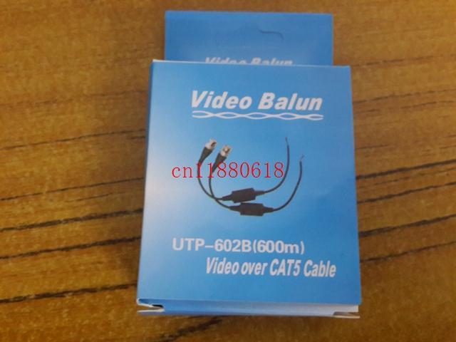 100 pçs / lote 50 pares Frete Grátis Um Canal Transceptor Passivo Vídeo CCTV Balun UTP-602B Vídeo Sobre CAT5 Cabo BNC masculino