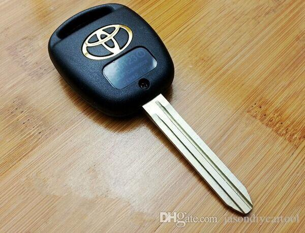Gloednieuwe vervangende shell afstandsbediening Sleutelhanger FOB voor Toyota Prado Tarago Camry Corolla met Uncut Toy43 Blade 2-knop