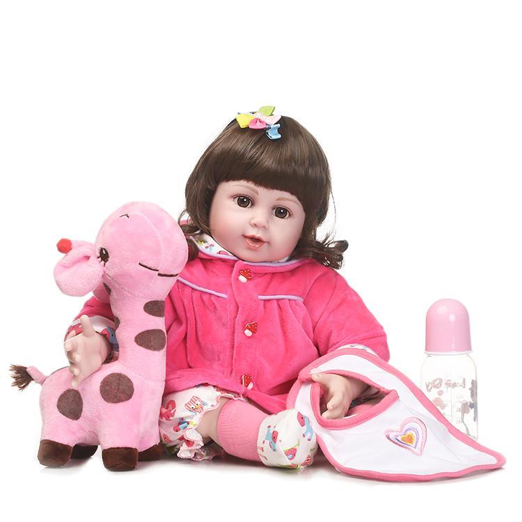 55cm Silicone Reborn Baby Doll Toys 22 Newborn Girls Brinquedos