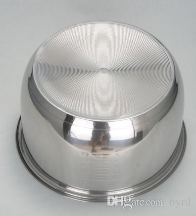 3L المواقد الأرز الكهربائية الفولاذ المقاوم للصدأ غير عصا تجهيزات المطابخ وعاء دلاء الثلج ثلاث طبقات سماكة أسفل 21 * 11.3CM