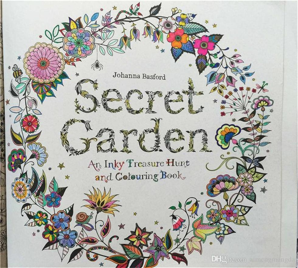 2015 Hot Sell Secret Garden An Inky Treasure Hunt And Coloring Book Adult Children Relax Graffiti Painting English Version Cheap Books Free