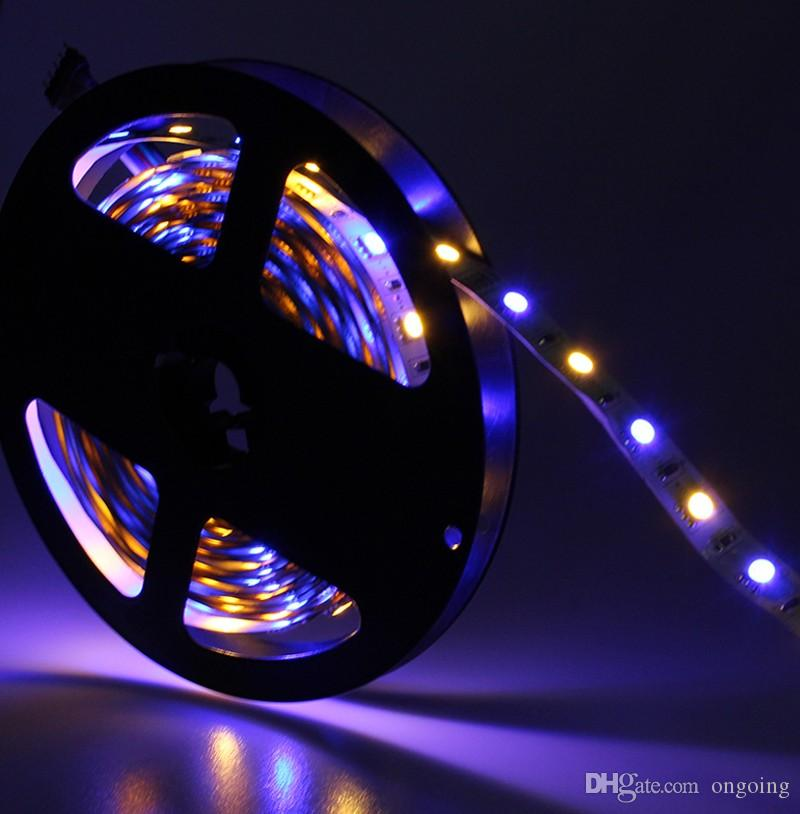 Holiday Cheapest 5m Flexible Rgb Led Light Strip 16ft 5050 Smd 5m 300 Leds Waterproof With Remote Controller And Power Supply Led Strips Lights