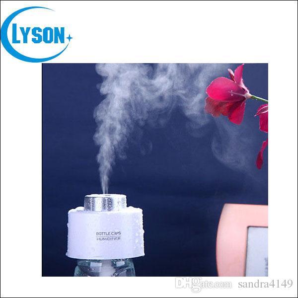 DHL Бесплатная доставка USB ABS бутылка воды Cap мини увлажнитель воздуха DC 5 в офис крышка бутылки диффузор аромат туман чайник 2 шт. абсорбирующий фильтр палочки