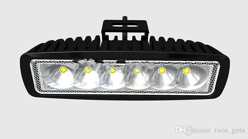 18W LED luz de trabajo 12V 24V IP67 inundación o haz puntual para 4WD 4x4 Off road lámpara TRUCK BOAT TRAIN BUS iluminación del coche