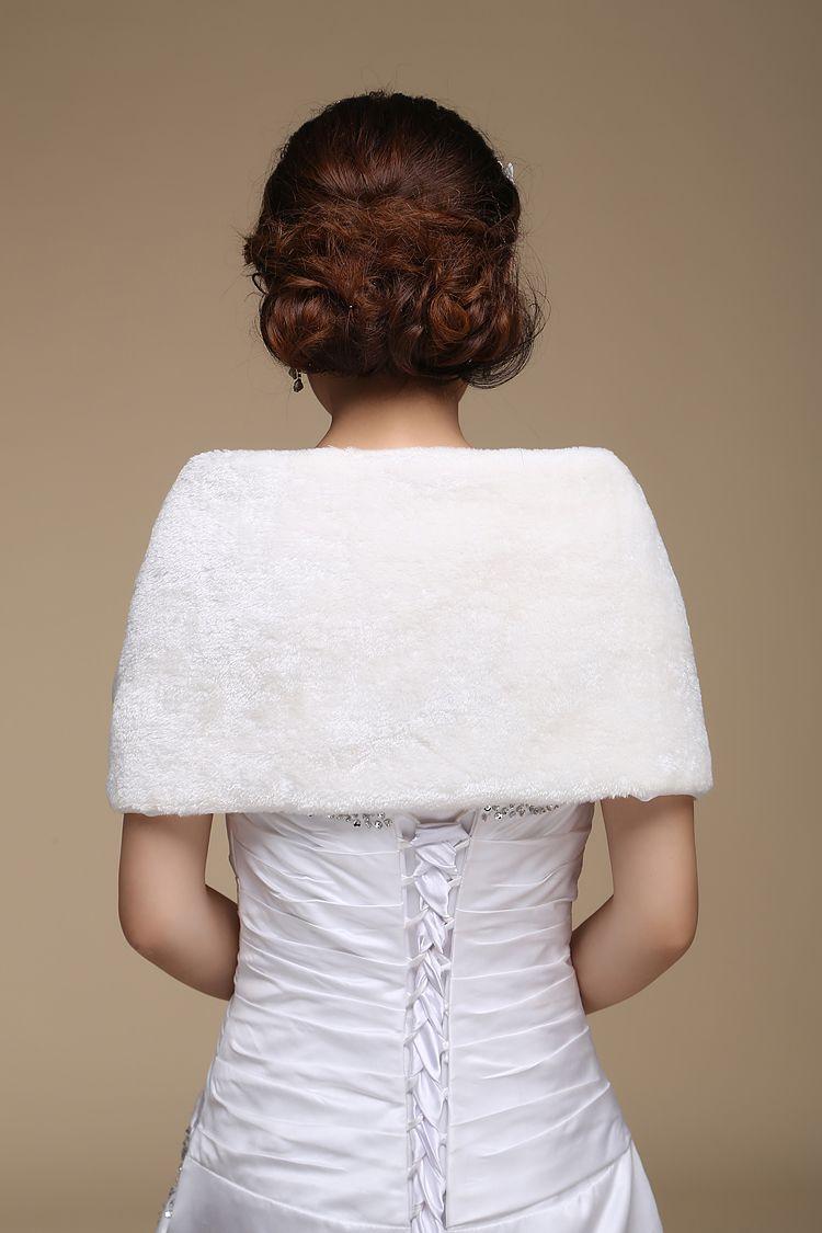 Faux Fur Bridal Wrap Jackets Cape Stole Bolero Jackets Coat Perfect For Winter Wedding Bride Bridesmaid Women wraps For special ocction 2016