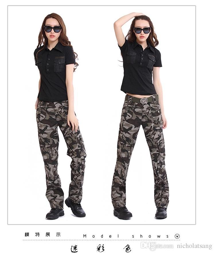 101 Airborne Fashion Knitting Damen Military Hosen Camouflage Cargo Hosen US Army Union Hosen Outdoor Bekleidung für Damen 2 Farben