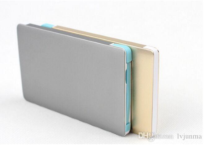 Aluminum shell 5600mAh Credit card Mobile Power Bank Ultra-thin Mobile Charger Battery for Samsung Galaxy&usb powered devices
