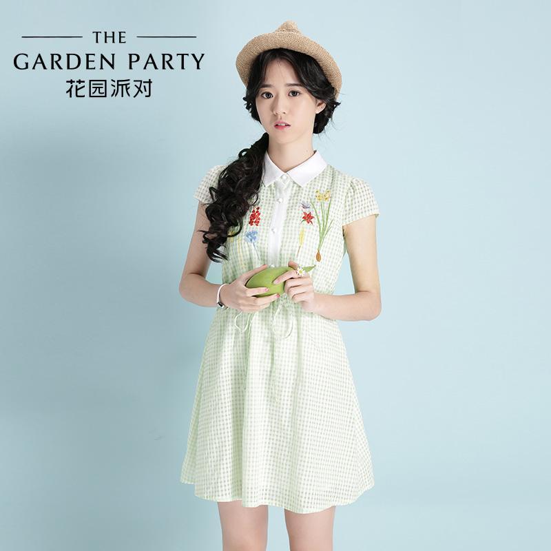 Großhandel Tgp Gartenparty 2015 Sommer Neue Koreanische Kleid ...