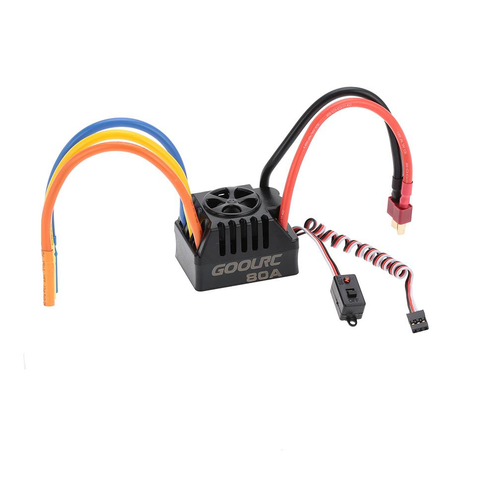 New GoolRC 80A 2~6S LiPo Battery Electronic Speed Controller ESC for 1/8 1/10 RC Car order<$18no track