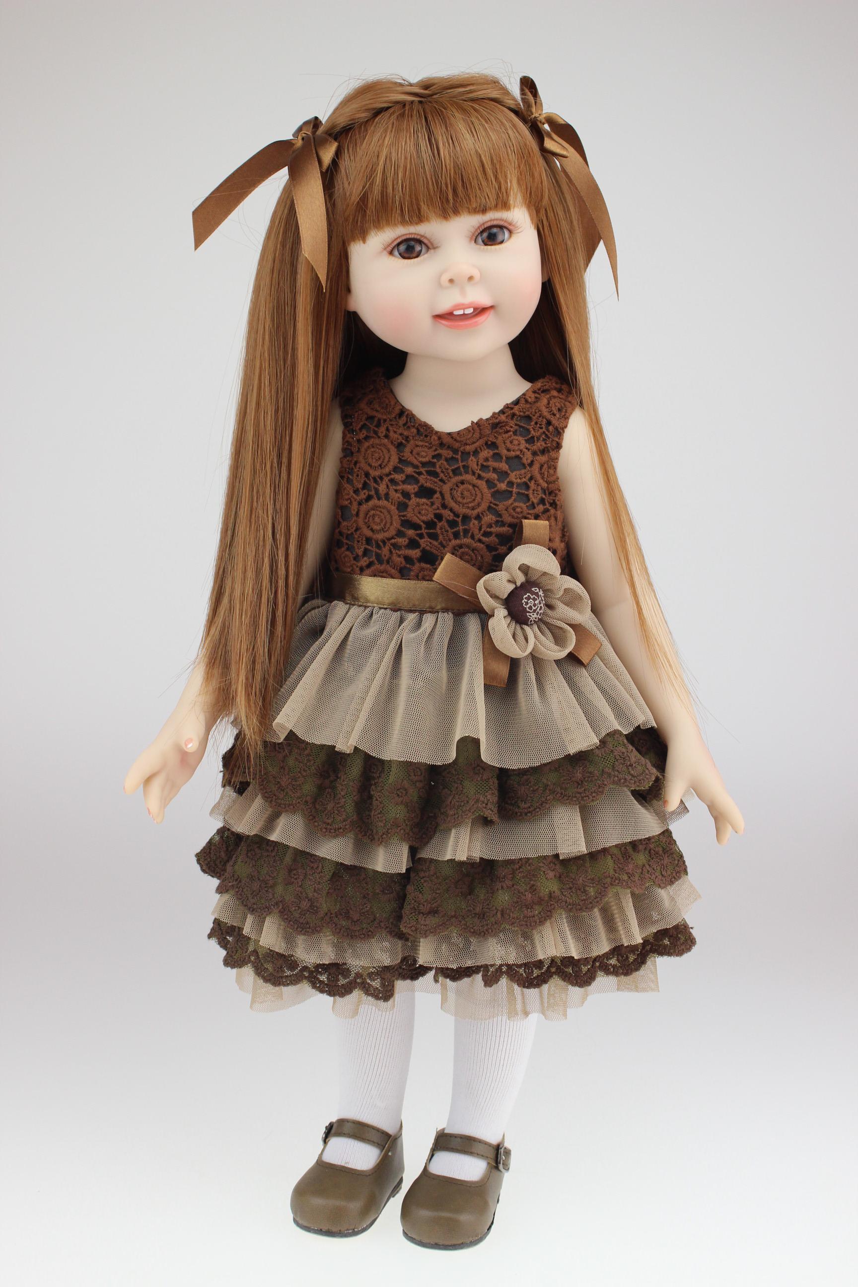18 45cm fashion very cute semi soft vinyl american doll education