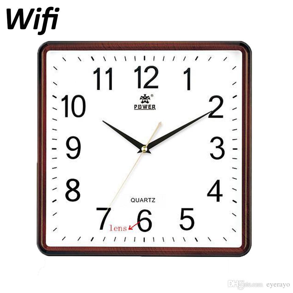 P2p Wifi Wall Clock Spy Camera H264 Video Recorder 90 Degree