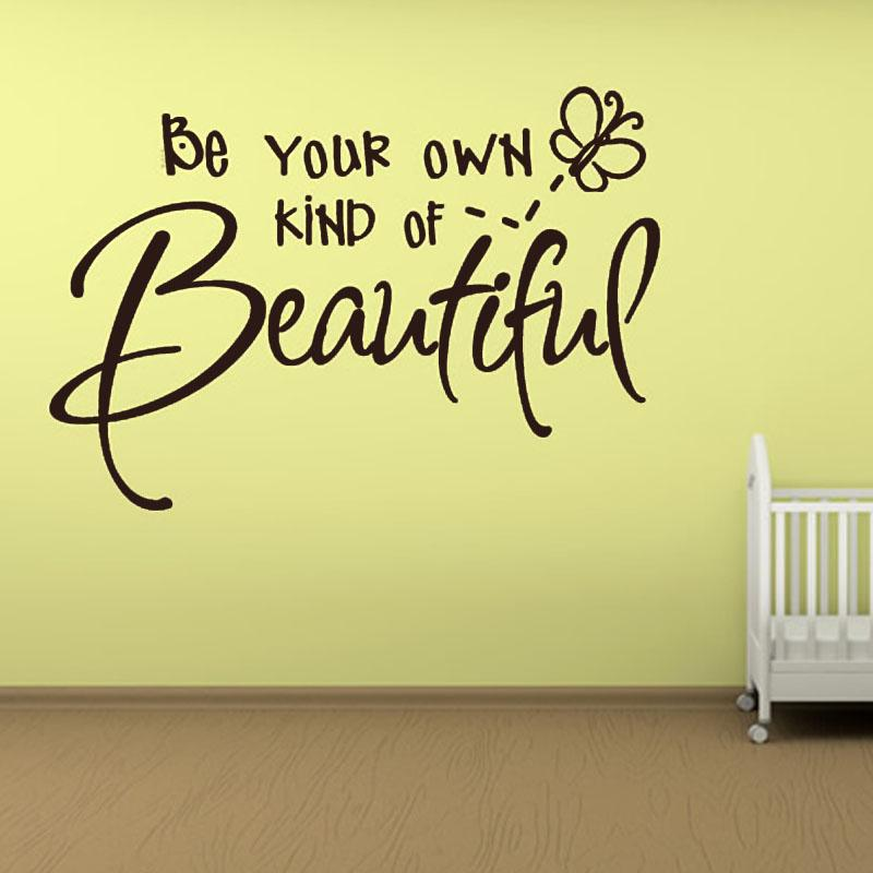 Be Your Own Kind Of Beautiful Wall Art be your own kind of beautiful letter wallpaper babys room