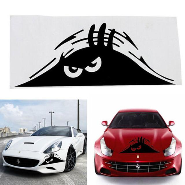 High quality funny peeking monster auto car walls windows sticker graphic vinyl car decals car stickers accessories car styling funny peeking monster auto