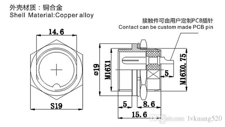 5 개 세트 / 키트 3 핀 16mm GX16-3 나사 항공 커넥터 플러그 항공 플러그 케이블 커넥터 일반 플러그와 소켓