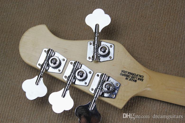 Il trasporto Basso Mancino caldo di alta qualità Music Man Ernie Ball Sting Ray Sunburst 9V raccolte attive 4 corde della chitarra elettrica libera
