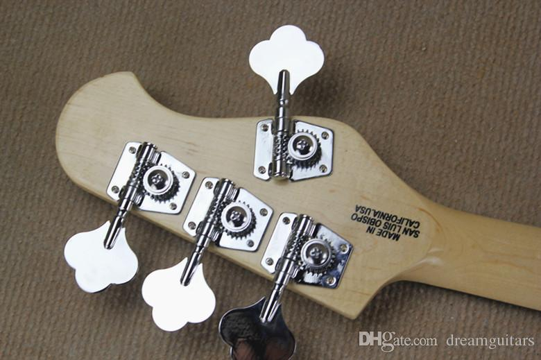 Left Handed Hot High Quality Music Man Ernie Ball Sting Ray Sunburst 9V Active Pickups 4 String Electric Bass Guitar
