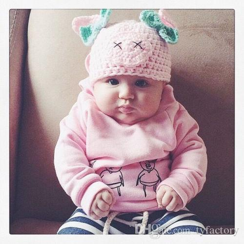 Newborn Baby Girls Outfits Animals Pig Hoodie Top +Pants Leggings Cute Children Clothing Toddler Long Sleeve Boutique Kid Clothes 0-2Y