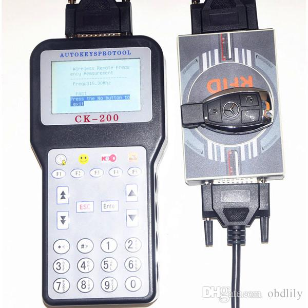 V38.03 CK-200 CK200 Auto Key Programmer No Tokens Limitation Newest Generation Updated Version of CK100 car Key maker DHL