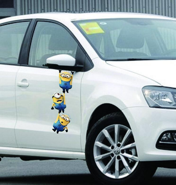 Wholesale Xcm Cute D Despicable Me Minions Car Stickers Car - Decal stickers for cars