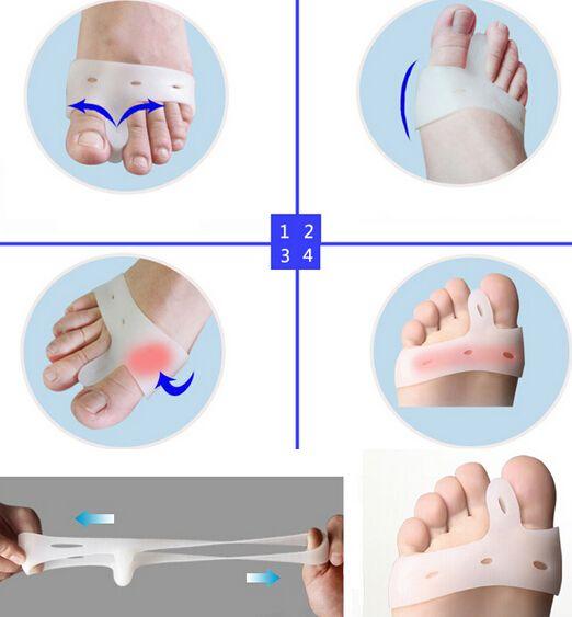 Salute Bellezza Cura dei piedi Gel di silicone Dita Punta Separatore Pollice Valgus Protector Borsite Regolatore Alluce Valgus Guard