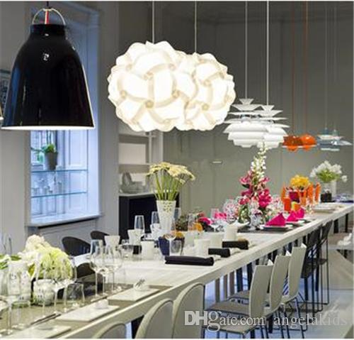 Design The Ceiling Chandeliers Collezione Logico Salotto Soggiorno Plafoniere Plafoniera moderna Lampadari in vetro al latte Luce