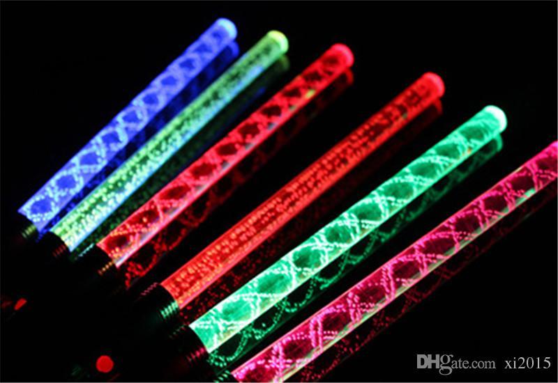 Новые популярные светодиодные развеселить светящиеся палочки красочные изменен вспышка палочка для детей игрушки Рождественский концерт День Рождения поставки партии