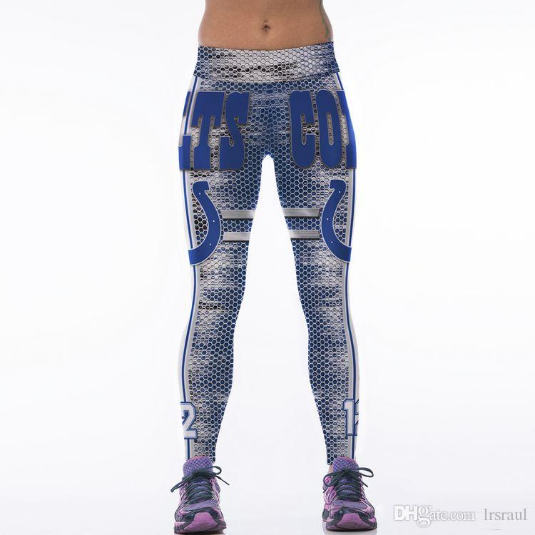 f5ef26c10e1fe 2019 Hot Sale High Waist Fashion 3D Sublimation Indianapolis Printed Fitness  Women Yoga Gym Colts Football Team Sports Leggings From Lrsraul, ...
