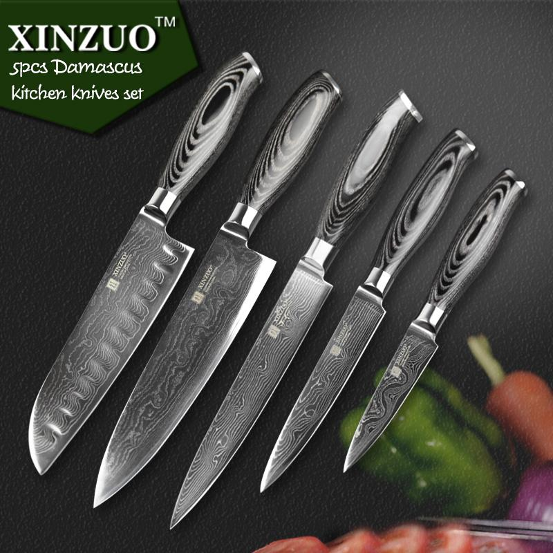Delicieux Xinzuo Kitchen Knives Set 73 Layers Japanese Vg10 Damascus Steel Kitchen  Knife Set Stainless Steel Kitchen Knife Good Kitchen Knives Set Good  Quality ...