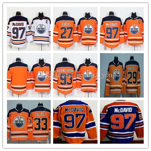 b3a78d6ad 97 Connor McDavid Jersey 2017-2018 Edmonton Oiler 27 Milan Lucic 29 Leon  Draisaitl 93 Ryan Nugent-Hopkins Hocekey Jerseys Cheap Stitched 2018  Edmonton Oiler ...