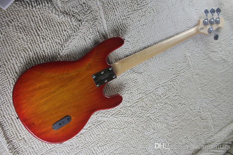 Chitarra elettrica mancini Cherry Burst Ernie Ball Sting Ray 4 corde basso elettrico Spedizione gratuita