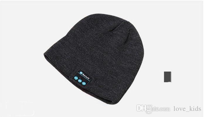 Hot Wireless Bluetooth Headphone Headset Earphone Hat Speaker Knitted Beanie Hat Cap winter warm running cap