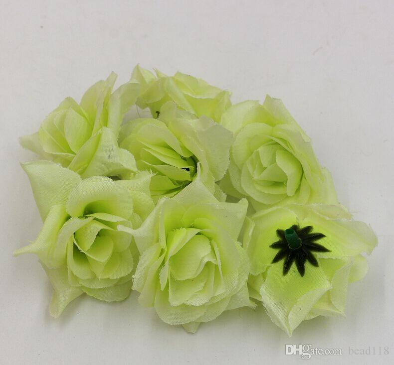 Caldo ! Disposizione di fiore verde della palla del fiore della decorazione del fiore di seta di nozze della testa del fiore della rosa di piegamento